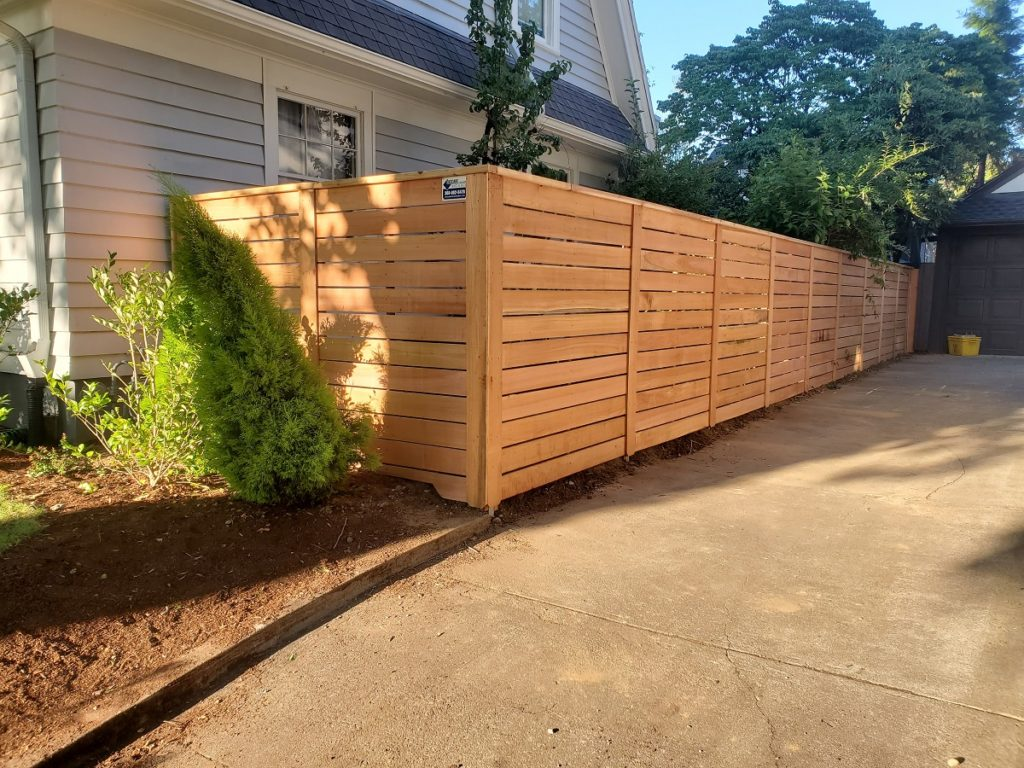 This Portland yard benefits from a Pacific semi-privacy fence