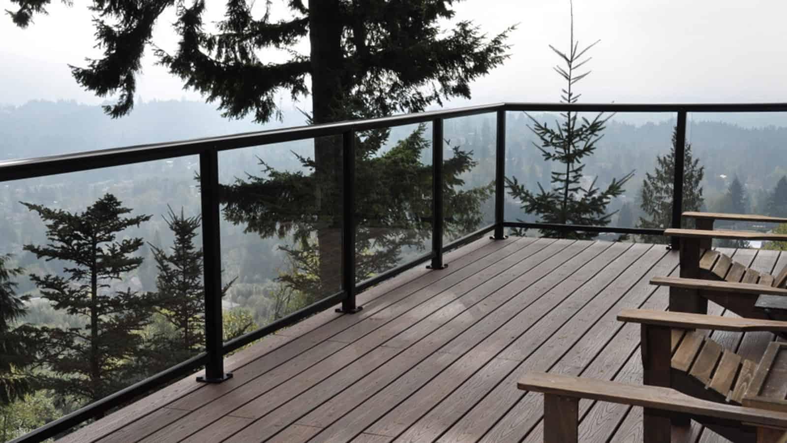 Glass railings for decks - Glass Railing